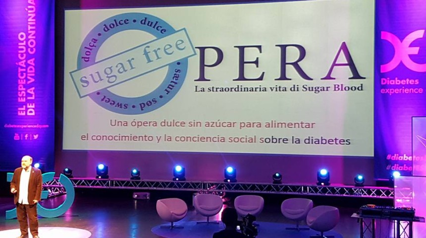 Presentación de la ópera en el Diabetes Experience Day